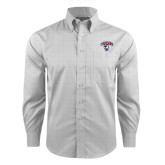 Red House Grey Plaid Long Sleeve Shirt-Columbus State Cougars w/ Cougar Arched
