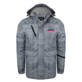 Grey Brushstroke Print Insulated Jacket-Arched Columbus State Cougars
