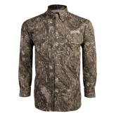 Camo Long Sleeve Performance Fishing Shirt-Arched Columbus State Cougars