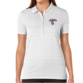 Ladies Callaway Opti Vent White Polo-Columbus State Cougars w/ Cougar Arched