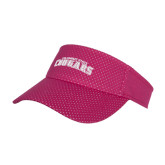 Pink Athletic Mesh Visor-Arched Columbus State Cougars