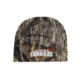 Mossy Oak Camo Fleece Beanie-Arched Columbus State Cougars
