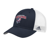 Adidas Navy Structured Adjustable Hat-Columbus State Cougars w/ Cougar Arched