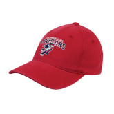 Red Flexfit Structured Low Profile Hat-Columbus State Cougars w/ Cougar Arched