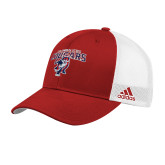 Adidas Red Structured Adjustable Hat-Columbus State Cougars w/ Cougar Arched