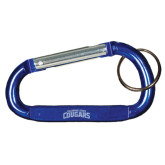 Blue Carabiner with Split Ring-Arched Columbus State Cougars Engraved
