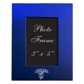 Royal Brushed Aluminum 3 x 5 Photo Frame-Columbus State Cougars w/ Cougar Arched Engraved
