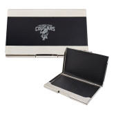 Bey Berk Carbon Fiber Business Card Holder-Columbus State Cougars w/ Cougar Arched Engraved