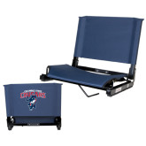 Stadium Chair Navy-Columbus State Cougars w/ Cougar Arched