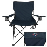 Deluxe Navy Captains Chair-Columbus State Cougars w/ Cougar Arched