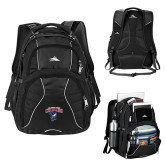 High Sierra Swerve Black Compu Backpack-Columbus State Cougars w/ Cougar Arched