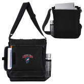 Impact Vertical Black Computer Messenger Bag-Columbus State Cougars w/ Cougar Arched