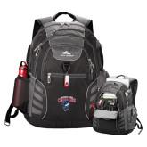 High Sierra Big Wig Black Compu Backpack-Columbus State Cougars w/ Cougar Arched