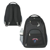 The Ultimate Black Computer Backpack-Columbus State Cougars w/ Cougar Arched