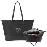 Stella Black Computer Tote-Columbus State Cougars w/ Cougar Arched