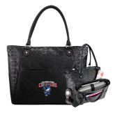 Sophia Checkpoint Friendly Black Compu Tote-Columbus State Cougars w/ Cougar Arched