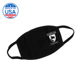 USA Made Black 3 Ply Cotton Mask-Primary Mark Face Mask