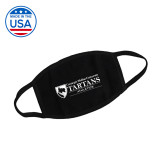 USA Made Black 3 Ply Cotton Mask-Secondary Mark Face Mask