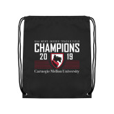Black Drawstring Backpack-2019 UAA Mens Indoor Track and Field Champions