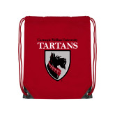 Red Drawstring Backpack-Mascot