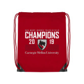 Red Drawstring Backpack-2019 UAA Mens Indoor Track and Field Champions