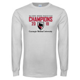White Long Sleeve T Shirt-2019 UAA Mens Indoor Track and Field Champions