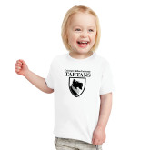 Toddler White T Shirt-Mascot One Color