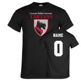 Black T Shirt-Mascot, Custom tee w/ name and #
