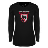 Ladies Syntrel Performance Black Longsleeve Shirt-Mascot