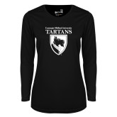 Ladies Syntrel Performance Black Longsleeve Shirt-Mascot One Color