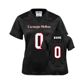 Ladies Black Replica Football Jersey-Carnegie Mellon Jersey