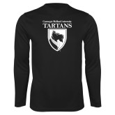 Performance Black Longsleeve Shirt-Mascot One Color