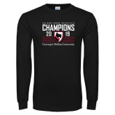 Black Long Sleeve T Shirt-2019 UAA Mens Indoor Track and Field Champions