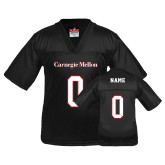 Youth Replica Black Football Jersey-Carnegie Mellon Jersey