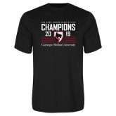 Performance Black Tee-2019 UAA Mens Indoor Track and Field Champions