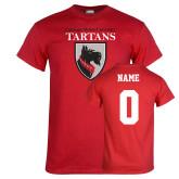 Red T Shirt-Mascot, Custom tee w/ name and #