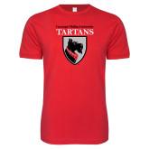 Next Level SoftStyle Red T Shirt-Mascot