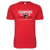 Next Level SoftStyle Red T Shirt-2019 UAA Mens Indoor Track and Field Champions
