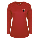 Ladies Syntrel Performance Red Longsleeve Shirt-Mascot