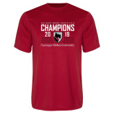 Performance Red Tee-2019 UAA Mens Indoor Track and Field Champions