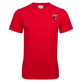 Red T Shirt w/Pocket-Mascot