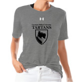 Ladies Under Armour Heather Grey Triblend Tee-Mascot One Color