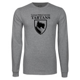 Grey Long Sleeve T Shirt-Mascot One Color