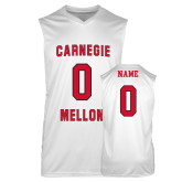 Replica White Adult Basketball Jersey-Carnegie Mellon Jersey Basketball