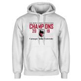 White Fleece Hoodie-2019 UAA Mens Indoor Track and Field Champions