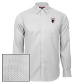 Red House White Diamond Dobby Long Sleeve Shirt-Mascot Embroidery