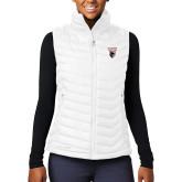Columbia Lake 22 Ladies White Vest-Mascot Embroidery