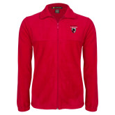 Fleece Full Zip Red Jacket-Mascot Embroidery