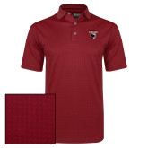 Callaway Red Jacquard Polo-Mascot Embroidery