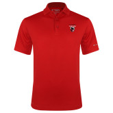 Columbia Red Omni Wick Drive Polo-Mascot Embroidery